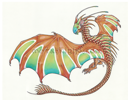 Flying Painted Dragon Sticker by thedancingemu