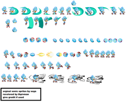 Ice sonic sprite sheets with update by tfpivman