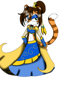 golden tabby Tiger Lady by queenmafdet