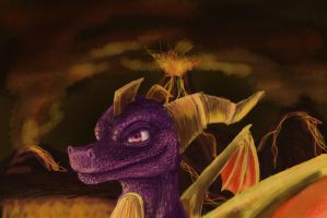 Spyro Finger Paint by Tsitra360