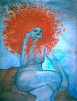 Nude With Red Hair 2 by rosalarian