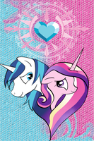 Cadence and Shining Armor Phone Wallpaper by Thoron95