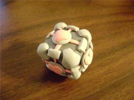 Portable Companion Cube Jr. by Number-Nine-Please