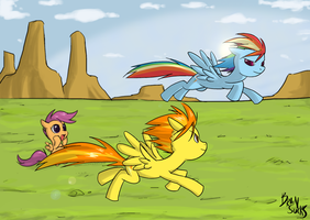 MLP:fim - Pegasus Race by BrainSucks