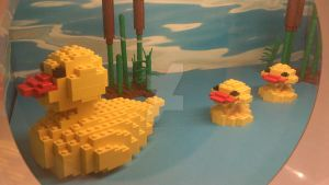 Mommy and Baby Duckies in LEGOS by crazyazianfosho
