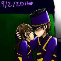our first kiss. REDONE by pandapunk143