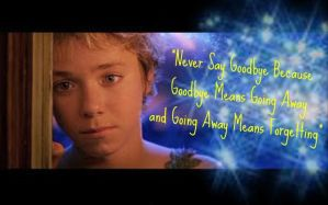 Peter Pan Quote by JessiPan