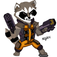 Rocket Racoon by Neyebur