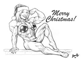 Christmas Muscle Babe by Bambs79