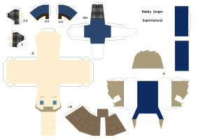 Bobby Singer Papercraft - SPN by Yolapeoples