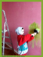 Little painter by Clergna