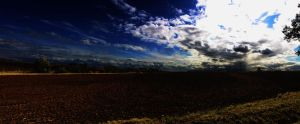 Farm Field Panoramic by Misscrazi