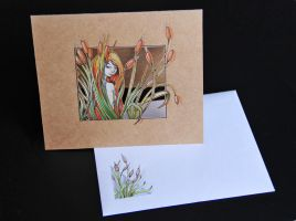 Postcard - Cutting Paper and watercolor by veternity