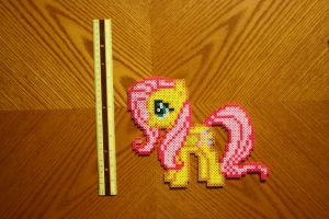 Fluttershy Perler by Claymmdude