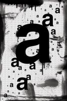 Letter A Makes a Poster by dellustrations
