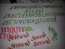 Calligraphy Alphabet by Ciillk