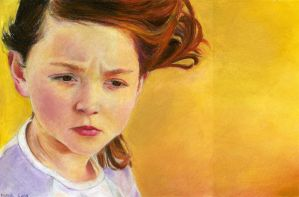 old child- painting by noalina