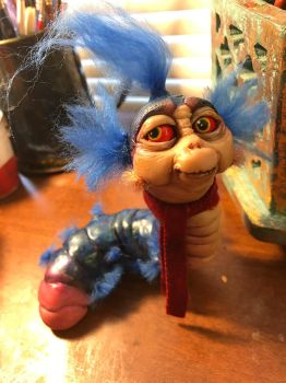 Labyrinth : Wall Worm - art doll by mammalfeathers