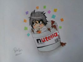 L chibi within nutella by RitanaPais