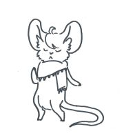 Hipster Mouse (Adoptable) by StacheRabbit