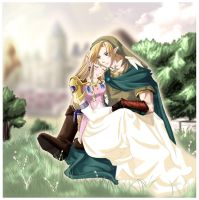 Link and Zelda: Serenity by Zelda-x-Link