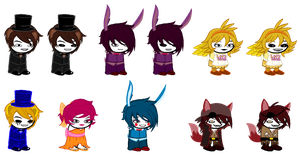.::Five Nights at Freddy's Sprites::. by Kalza
