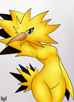Zapdos pokemorph by ZinZoa