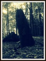 the silhouette of a menhir by czmartin