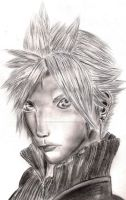 Cloud Strife - Pencil Drawing by coolstergraphics