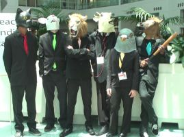 Masked Cosplays from Hotline Miami at AX 2013 by trivto