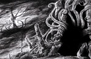 The Priest at R`lyeh(Commission for Cthulhu Rites) by CorvenIcenail
