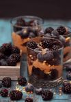 Chocolate Cake Berry Parfait w Mocha Whipped Cream by theresahelmer