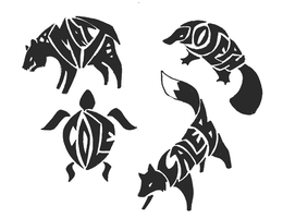 Name:Animal Tribal Tattoos 3 by Ironwolf09
