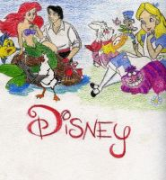 unfinished disney collage by punkzebrachick15