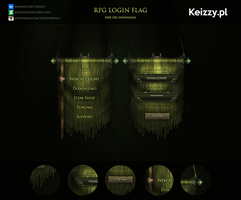 #1 Free PSD - RPG Login Flag by Keizzy