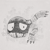 Mac the Gastly Sketch Commission by ClefairyKid
