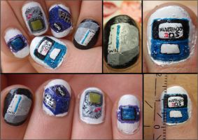 nintendo nails by Ninails