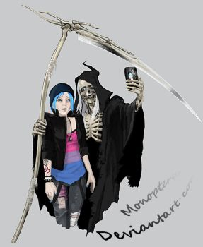 Selfie of Death by Monopteryx