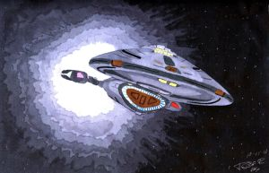 USS Voyager by Fox-under-the-stars