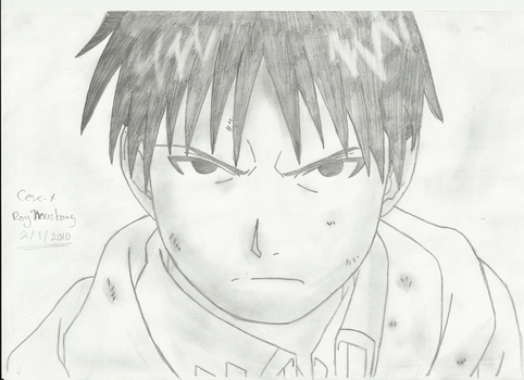 Drawing : Roy Mustang by Cesc-X