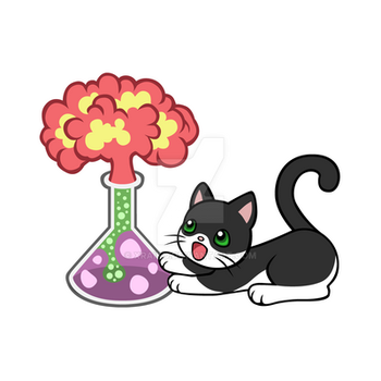 Commission: Science Kitty by xraiko