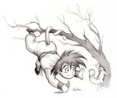 Social Time for Goku by HanMonster