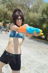 Hanji Zoe Cosplay //  Beach Edition SnK by LadyOfBarians