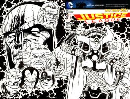 Justice League Issue 1 New Gods Sketchcover by ElfSong-Mat