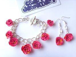 English Summer Rose Set by tyney123