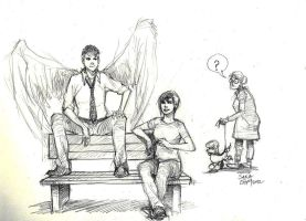 Chatting with ur angel by Ai-to-Makoto