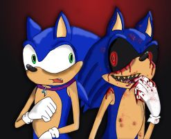 Sonic vs Sonic.EXE by Piddies0709