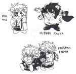 Hammy as Xix ver.2, Hibari and Enma by ItachiGrayDLuffy