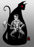 Poe's Black Cat by fbwash