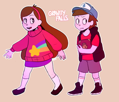 Miss Madel and Dipper by Octopusseh